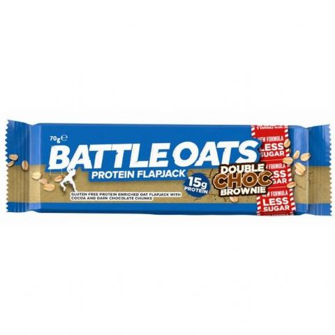 Battle Oats Double Chocolate Brownie Protein Bar 70g